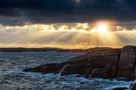 Sunset on the Bohuslan archipelago, Sweden