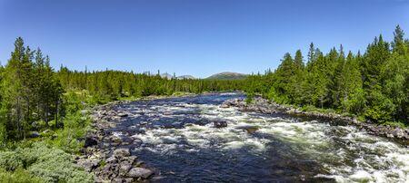 Wild river in Norway, Scandinavia