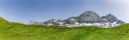 Mountain panorama at Col de Tente in the Pyrenees, France Stock Photo