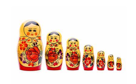 Matryoshka dolls isolated on white