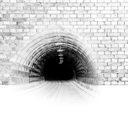 Tunnel in a stone wall