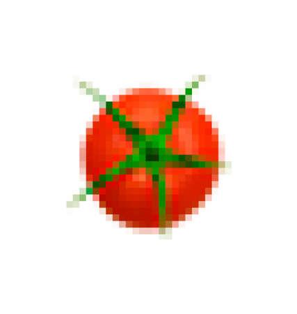 Pixel representation of a tomato