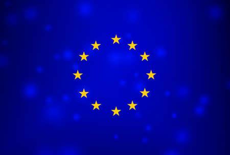 European flag on blurred background 스톡 콘텐츠