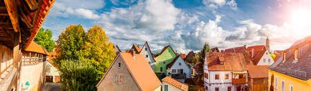 City view of the old town Noerdlingen in Bavaria