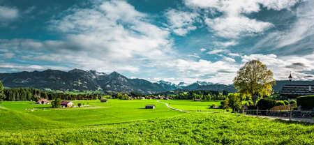 Landscape near Oberstdorf in the Allgäu