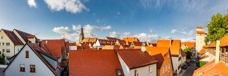 City view of the old town Nördlingen in Bavaria Zdjęcie Seryjne