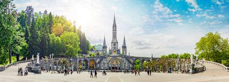 Notre-Dames Basilica in Lourdes, France