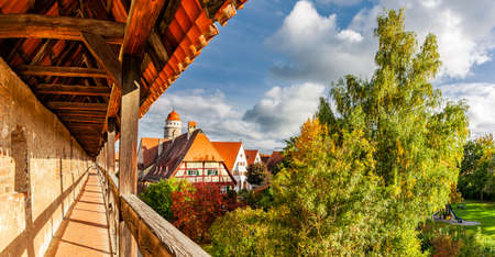 City wall and old town of Nördlingen in Bavaria