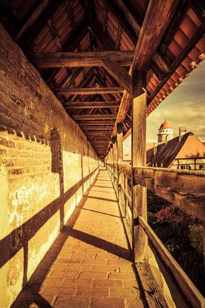 Historic city wall of Nördlingen in Bavaria