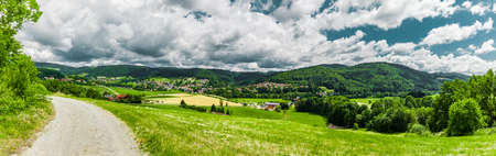 Panoramic View of Ringelai in the Bavarian Forest