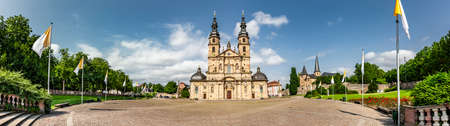 Domplatz with cathedral in Fulda, Hesse Zdjęcie Seryjne