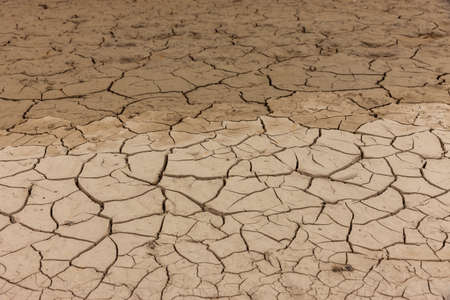 Dried out soil because of drought