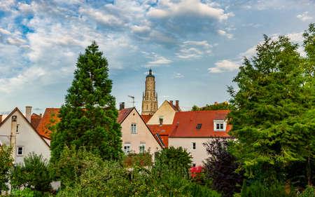 City view of the Altstdt Nördlingen in Bavaria