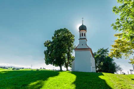 Loreto Chapel near Marktoberdorf in Allgäu Фото со стока