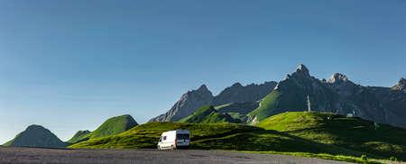 Camper Van at Col d'Aubisque