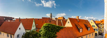 City view of the old town Nördlingen in Bavaria Фото со стока