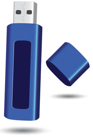 computer memory: USB flash drive illustration. Illustration