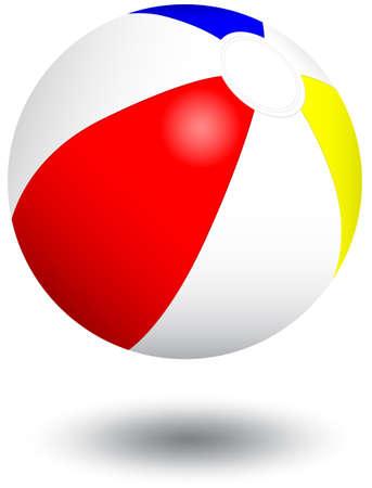 Inflatable beach ball illustration. Vetores