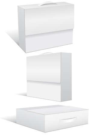 unprinted: conjunto de ilustraci�n de caso en blanco o cuadro.  Vectores