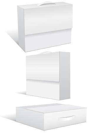 illustration set of blank case or box.