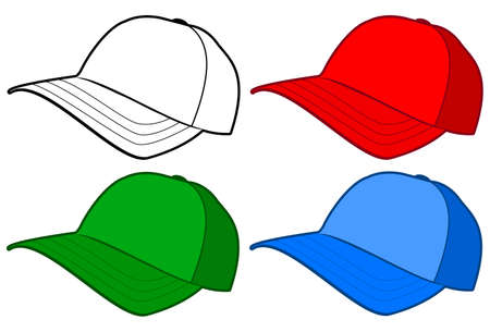 Baseball cap or hat template design.