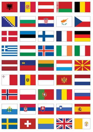 bandera de suecia: Completo conjunto de banderas de Europa.