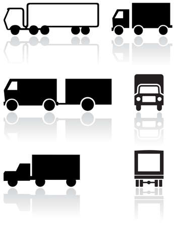 Truck or van symbol   set. Stock Vector - 8163988