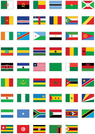 Complete set of flags from Africa. Stock Vector - 8164002