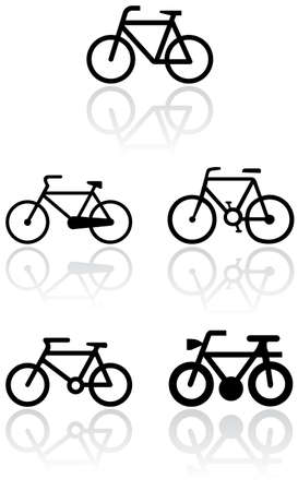 black icons: Bike symbol   set.