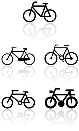 Bike symbol set.