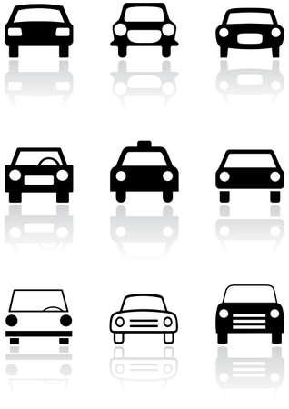 Car symbol or road sign set. Vector
