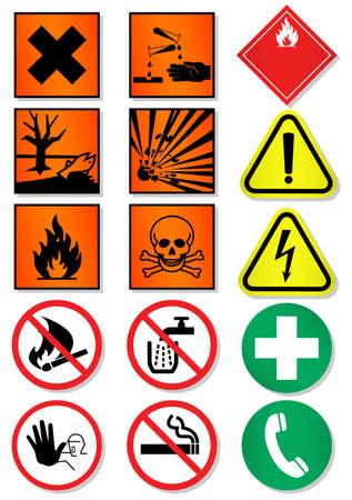conjunto de diferentes signos internacionales, laboratorio asociado.