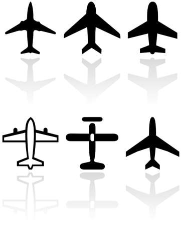 set of different airplane symbols. Stock Vector - 8266685