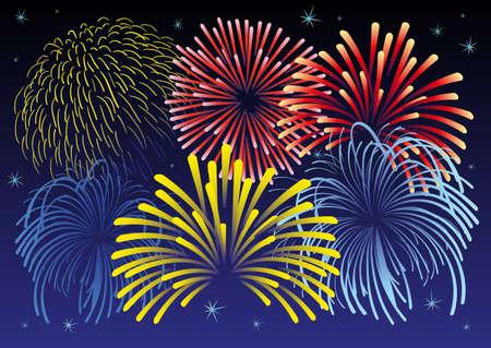 illustration of firework and stars. Stock Vector - 8266694