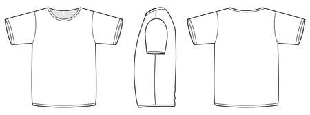 unprinted: Template illustration of a blank basic T-shirt.