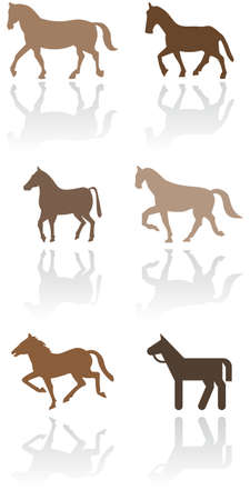 Horse or pony symbol set. Illustration