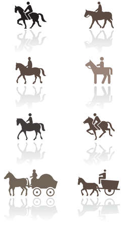 horse pull: Horse or pony symbol