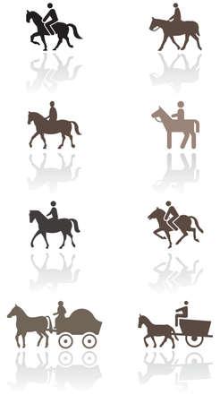 horseman: Simbolo di cavallo o pony  Vettoriali