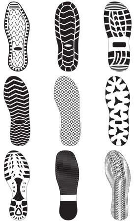 Fußabdrücke Vektorgrafik