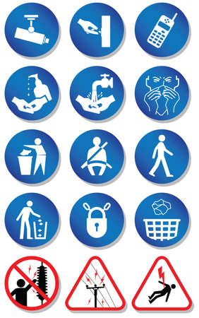 Miscellaneous international communication signs. Vector