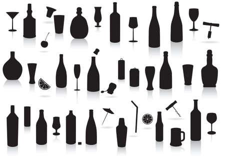 Les boissons du Parti silhouette définie.