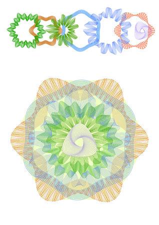 Guilloche design elements