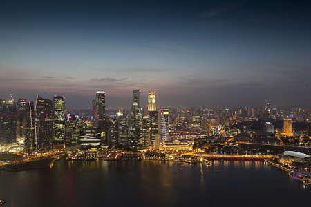 singapore city: Singapore Financial District View