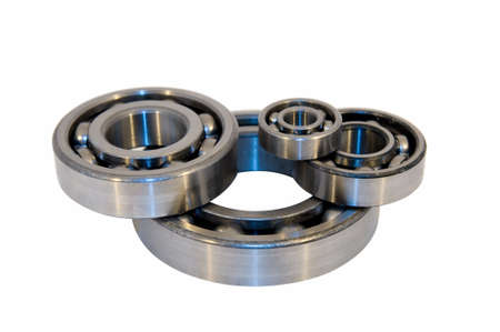 Four bearings of the different size isolated on white photo