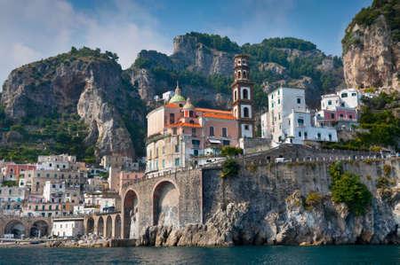 Amalfi Coast from the Sea, in Italy photo