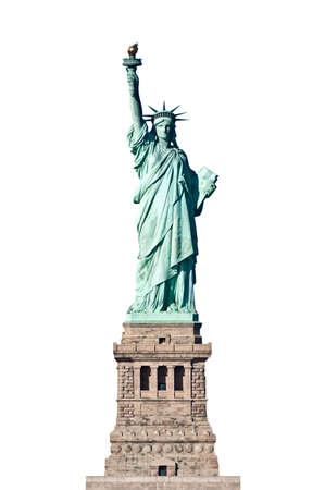 liberty: Statue of Liberty in New York isolated Stock Photo