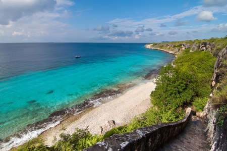 water s edge: Una posizione punto di riferimento a Bonaire, isola olandese dei Caraibi