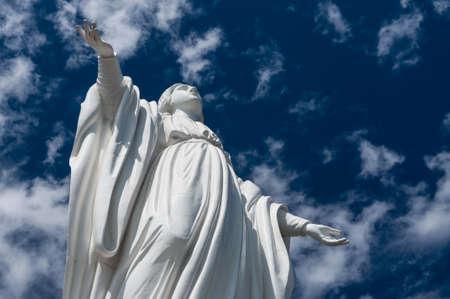 santiago: Statue of Virgin Mary, Cerro San Cristobal, Santiago de Chile