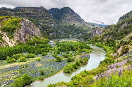 Simpson River Valley, Simpson River National Park, near Puerto Aisen and Coyhaique, Patagonia, Chile