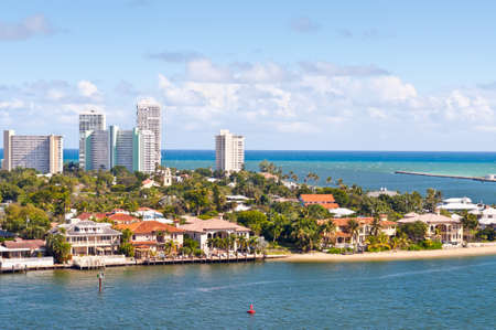 fortress: View of Atlantic intracoastal waterway and ocean at beach Florida, Fort Lauderdale
